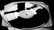 černá vinylová deska, klasická černá vinylová hmota