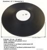 kulatá vinylová deska, vinylová deska ve tvaru kruhu, klasický tvar pro vinylové desky-kruh