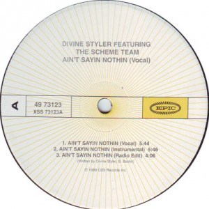 Divine Styler Feat. The Scheme-Ain´t Saying Nothing, Vinyl.