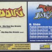DMGroove, Polish American- Hip Hop bez hranic, Prototyp, Party Shit, Get Down. Obal desky – nálepka.