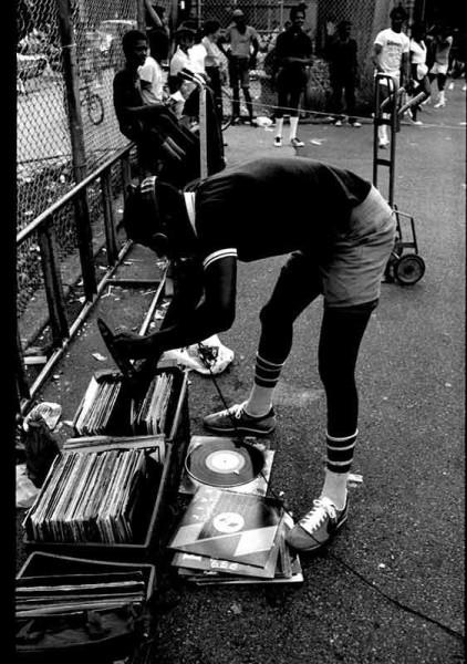 Vinylové desky desky a dj. New York-Bronx v 70tých letech