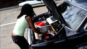 dj gramofony, auto-kufr