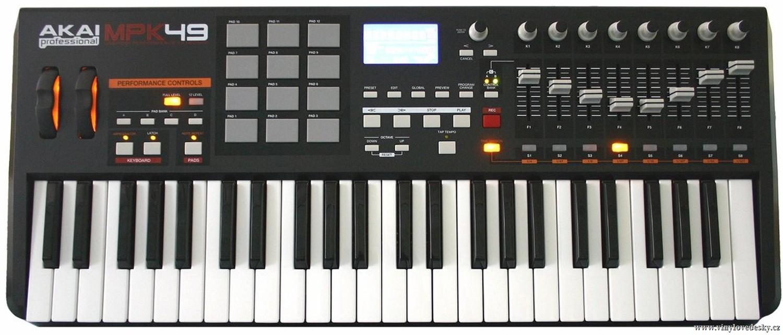 AKAI-MPK 49-MIDI-USB-kontroler-master-keyboard-ovladač-master-keyboard