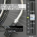 Gramofon měření-otáčky pitch adj.