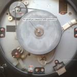 Trn-spindl gramofonu, talíř nasadit na trn