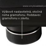 Gramofon noha nastavitelná, omezuje vibrace