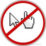 Značka,symbol,neklikej na odkaz,internet-web vinyl odkaz