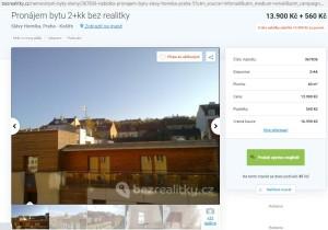 Pronajem bytu Praha