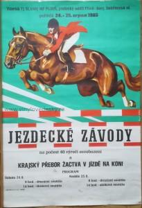 Plakát koně, parkur, skoky, E. Kotrba