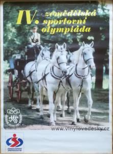 plakáty koně, vozatajské soutěže, vozataj, kočár