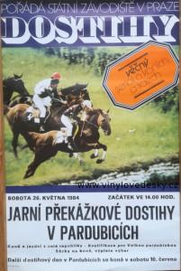 Plakáty koní, cross country, přírodní překážky