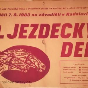 Plakáty koní, Jezdecký den, Radslavice, 1983