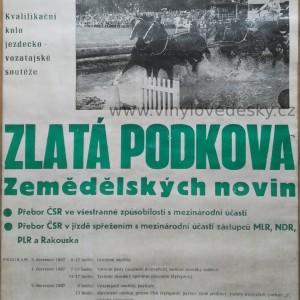 Plakát koně, vozatajské soutěže, Zlatá Podkova