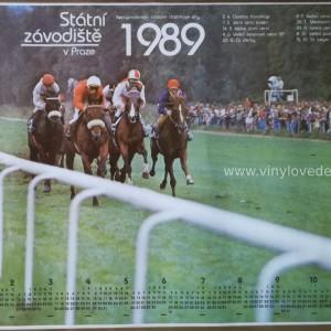 Kalendář koní, koně dostihy,1989