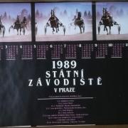 Kalendáře, plakáty, koní, koně, klusáci, rok 1989